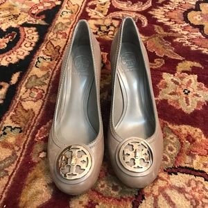 Leather Taupe Tory Burch Heel